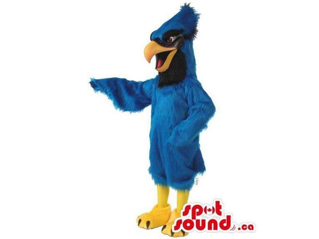 Customised Blue Eagle Plush Canadian SpotSound Mascot With Long Comb