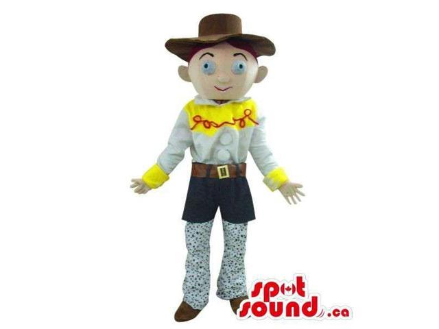 Cute Young Cowboy Cartoon Character Plush Canadian SpotSound Mascot With A Hat