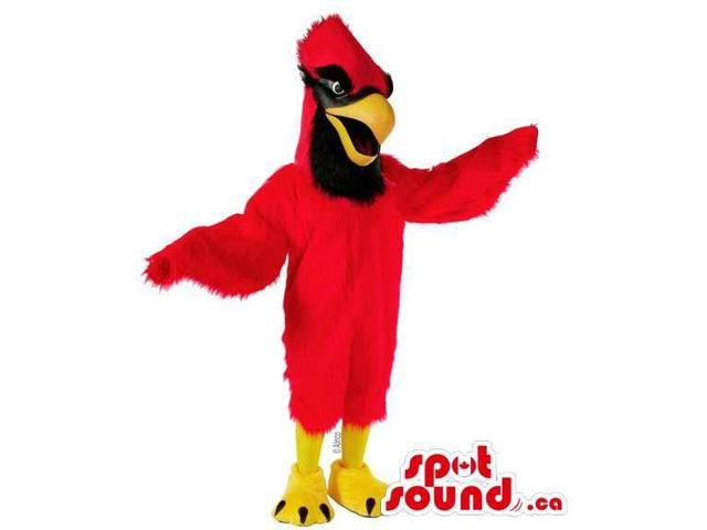 Customised Red Eagle Plush Canadian SpotSound Mascot With Long Comb