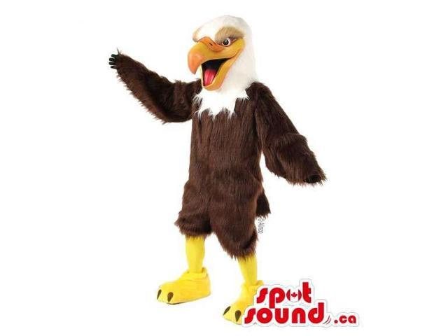 Customised White And Brown American Eagle Bird Canadian SpotSound Mascot