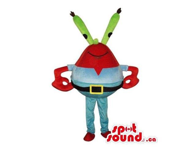 Cute Red Space Alien Character Plush Canadian SpotSound Mascot With Long Green Eyes