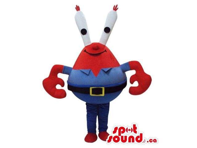 Cute Red Space Alien Character Plush Canadian SpotSound Mascot With Long White Eyes