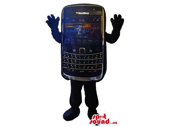Customised Blackberry Cell Phone Canadian SpotSound Mascot With Colourful Screen