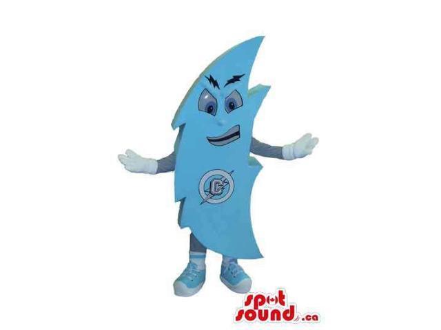 Blue Thunder Strike Customised Canadian SpotSound Mascot With Extra Logo