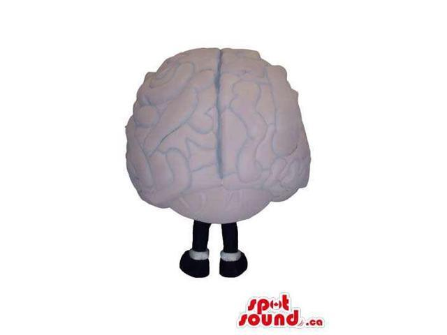 Huge Brain Organ Customised Canadian SpotSound Mascot In Grey With Space For Logos