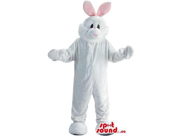 Customised White Easter Bunny With Space For Logo
