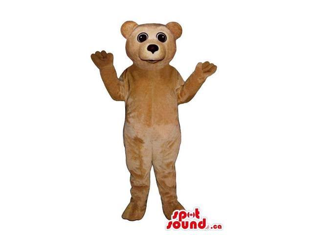 Light Brown Bear Forest Plush Canadian SpotSound Mascot With Round Eyes