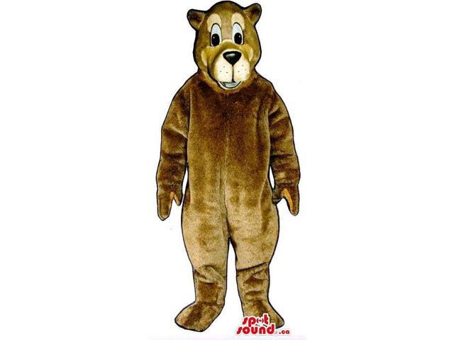 Brown Bear Canadian SpotSound Mascot That Looks Like A Cartoon Character