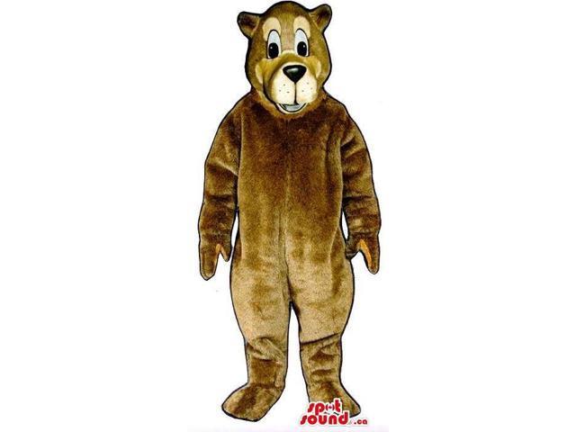 Brown Bear Canadian SpotSound Mascot That Looks Like A Cartoon Character