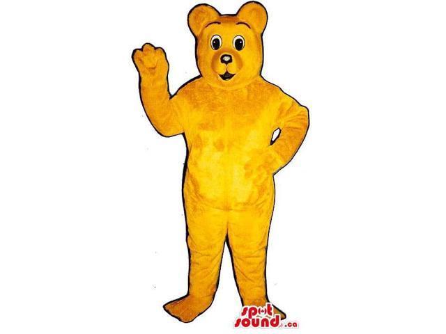 Brown Plush Bear Canadian SpotSound Mascot With A Cute Cartoon Character Face