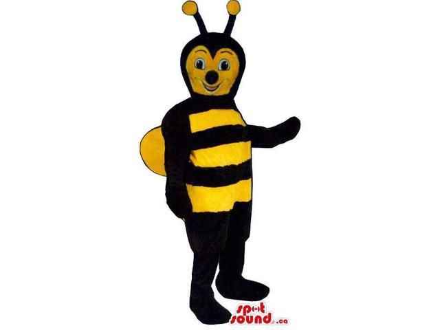 Bee Insect Plush Canadian SpotSound Mascot With Yellow Wings And Face