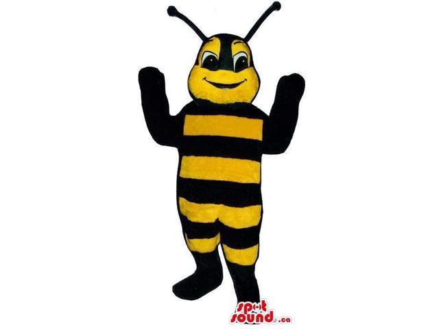 Bee Insect Plush Canadian SpotSound Mascot With Hilarious Face Expression