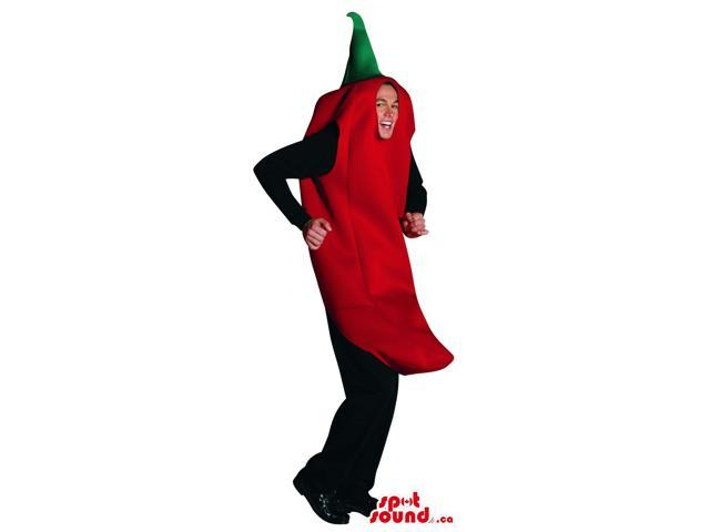 Red Pepper Vegetable Canadian SpotSound Mascot Or Adult Size Costume