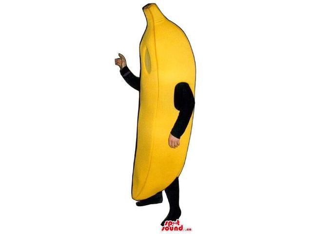Customised Large Yellow Banana Fruit Canadian SpotSound Mascot With No Face