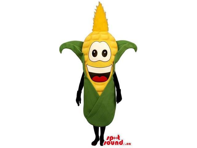 Customised Happy Corncob Canadian SpotSound Mascot With Peculiar Face
