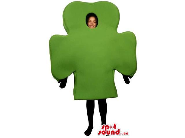 Great Green Clover Plant Canadian SpotSound Mascot Or Adult Size Costume