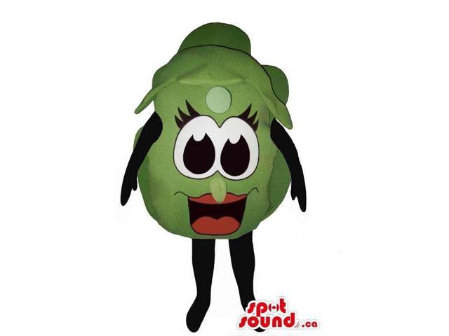 Customised Green Grape Canadian SpotSound Mascot With Cartoon Girl Eyes