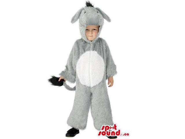 Cute Halloween Grey Donkey Children Size Plush Costume Disguise