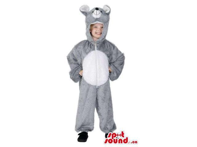 Cute Halloween Grey Mouse Children Size Plush Costume Disguise