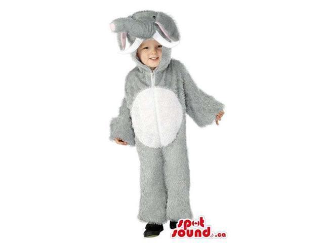 Cute Halloween Grey Elephant Children Size Plush Costume Disguise