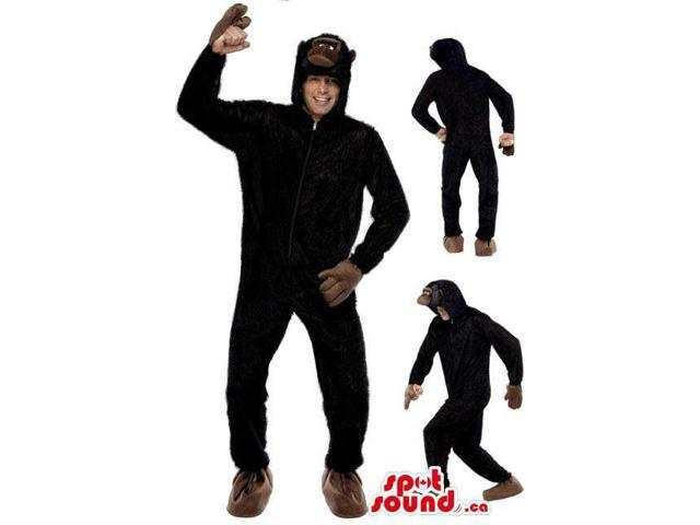 Black Gorilla Or Monkey Adult Size Costume Or Plush Canadian SpotSound Mascot