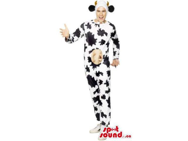 Awesome Large Cow Adult Size Costume Or Plush Canadian SpotSound Mascot