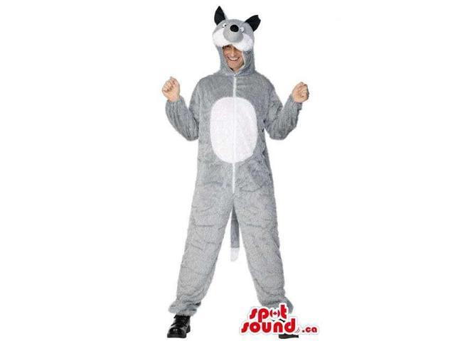 Awesome Grey Raccoon Adult Size Costume Or Plush Canadian SpotSound Mascot