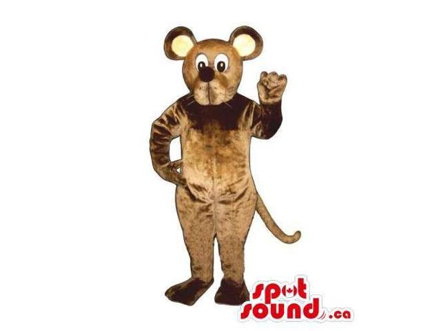 Customised Brown Mouse Animal Canadian SpotSound Mascot With Round Ears