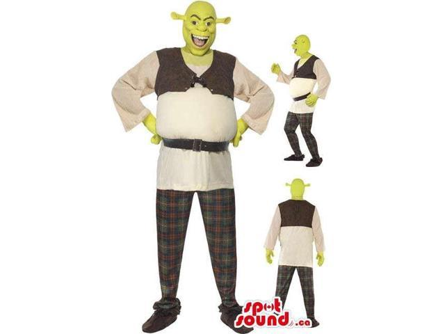 Shrek Movie Character Adult Size Costume Or Canadian SpotSound Mascot