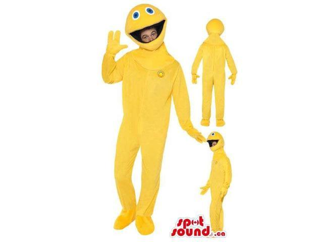 Yellow Pac Man Video Game Character Adult Size Costume