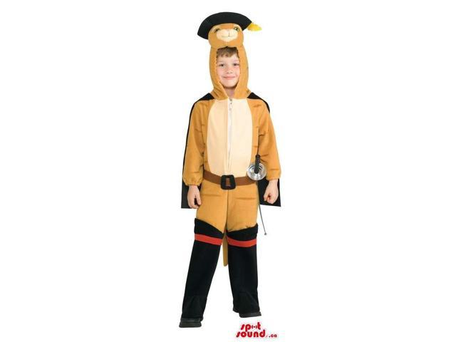 Cute Cat In Boots Story Character Children Size Costume