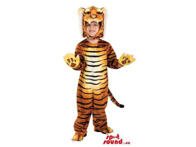 Cute Tiger Animal Children Size Costume Or Disguise