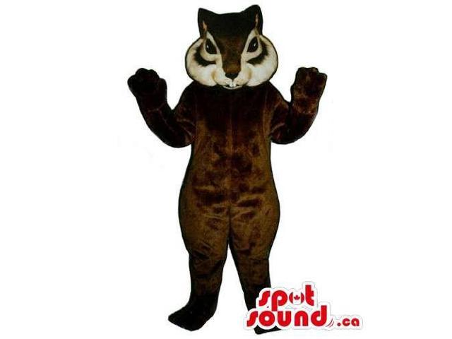 Customised Brown And White Squirrel Animal Canadian SpotSound Mascot