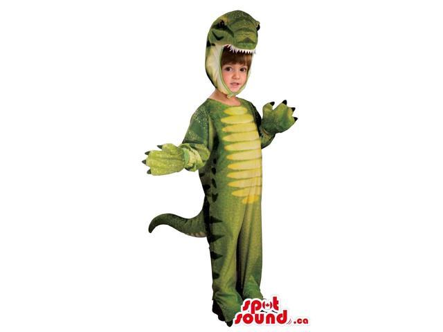 Cute Green Dinosaur Children Size Costume Or Disguise