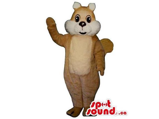 Customised Brown And White Chipmunk Animal Canadian SpotSound Mascot