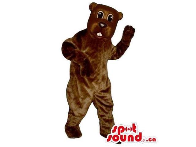 Customised All Brown Bear Wildlife Animal Canadian SpotSound Mascot