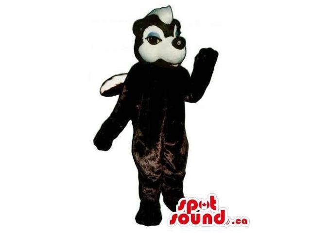 Customised White And Black Skunk Wildlife Animal Canadian SpotSound Mascot
