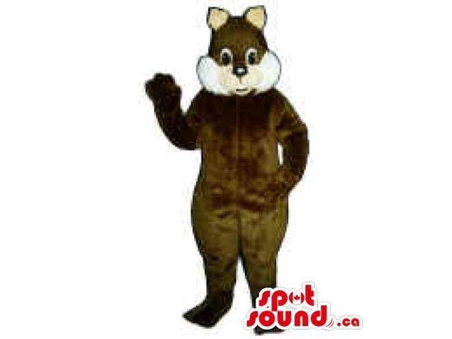 Customised Chipmunk Animal Canadian SpotSound Mascot With White Cheeks
