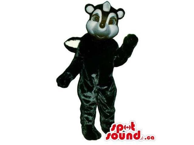 Customised Cute White And Black Skunk Animal Canadian SpotSound Mascot