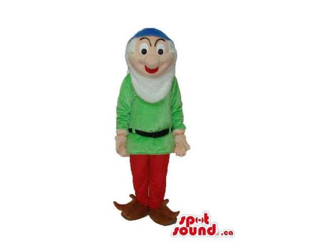 Snow White And The Seven Dwarfs Character Canadian SpotSound Mascot In Green Gear