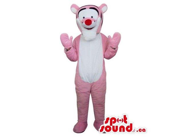 Well-Known Tiger Winnie The Pooh Character Plush Canadian SpotSound Mascot In Pink