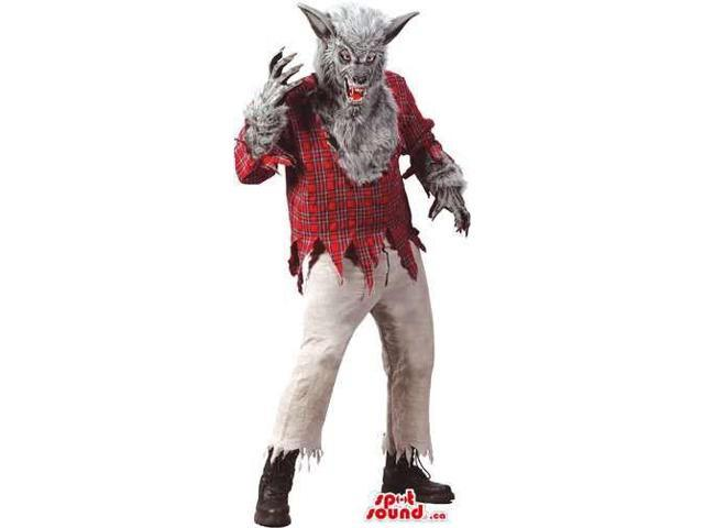 Real-Looking Werewolf Horror Character Canadian SpotSound Mascot Or Costume