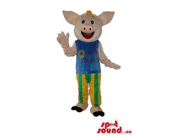Fairy-Tale Cute Pig Animal Plush Canadian SpotSound Mascot With Circus Clothes