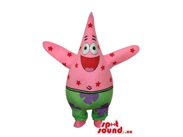 Patrick Starfish Sponge Bob Square Pants Cartoon Canadian SpotSound Mascot