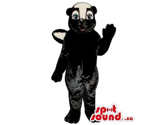 Customised Black Skunk Animal Canadian SpotSound Mascot With A White Face