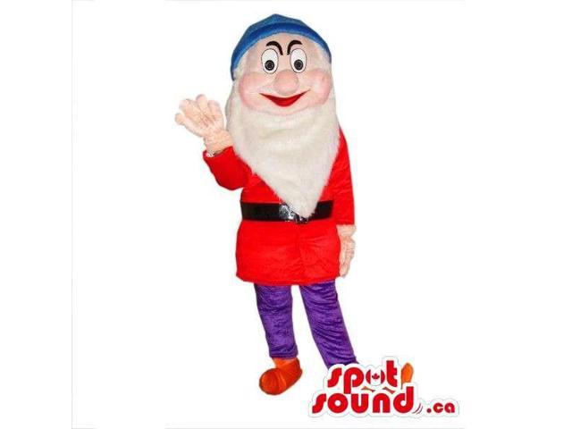 Snow White And The Seven Dwarfs Canadian SpotSound Mascot In Red Gear