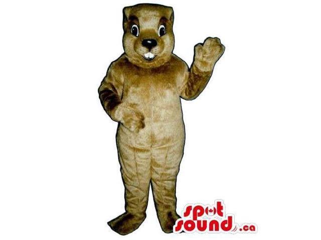 Customised All Light Brown Chipmunk Animal Canadian SpotSound Mascot