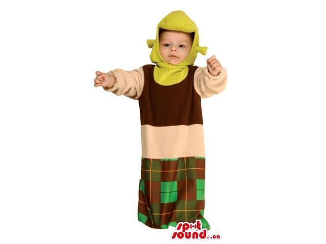 Green Shrek The Ogre Movie Character Toddler Size Costume