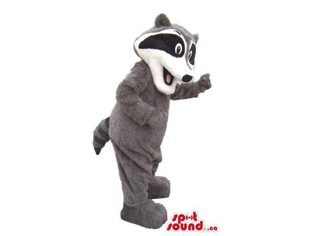 Customised Cute Grey And Black Skunk Plush Animal Canadian SpotSound Mascot