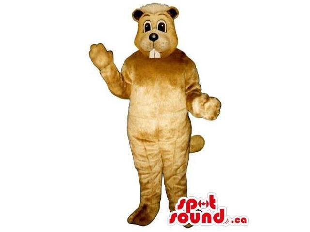 Customised Peculiar Light Brown Chipmunk Animal Canadian SpotSound Mascot